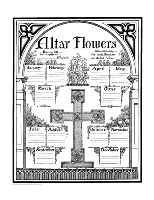 "Altar Flower Chart | 17"" x 22"""