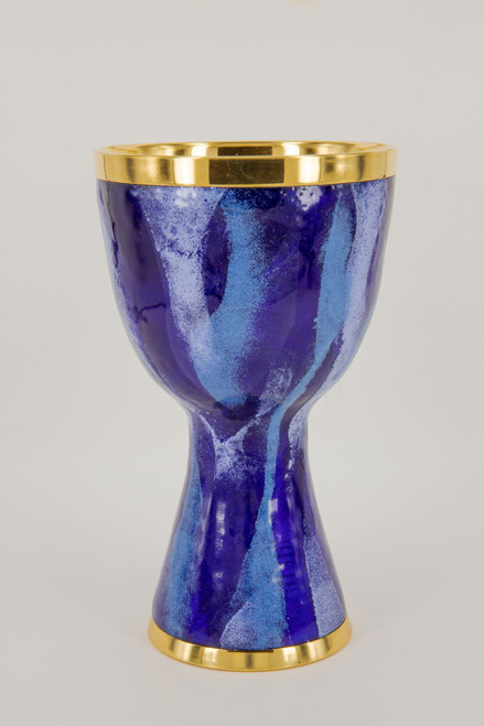 """#285 Blue """"Genesis"""" Enamel Chalice 