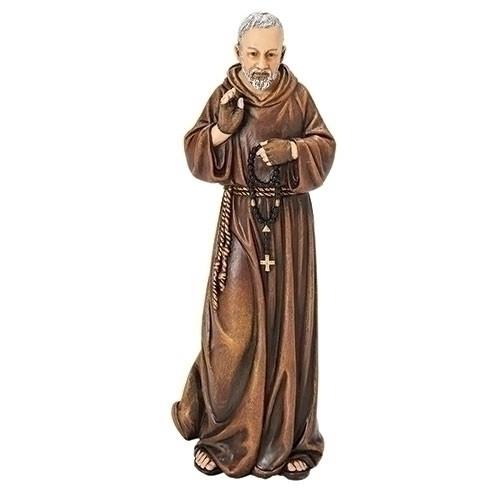 "6"" Padre Pio Statue | Renaissance Collection | Resin/Stone"