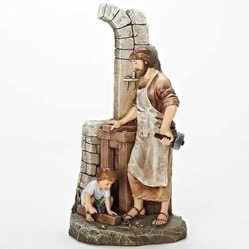 "13"" ""The Carpenter's Apprentice"" Figure | Renaissance Collection | Resin/Stone"