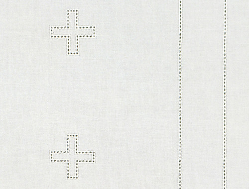Embroidered Cross Altar Cloth | 100% Cotton | Multiple Types | Custom Sizing Available