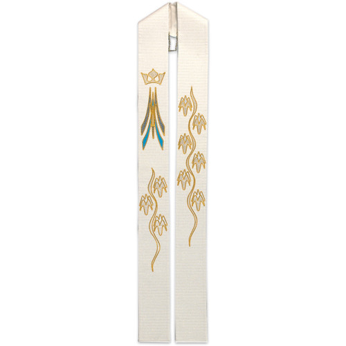 #3815 Gold Embroidered Marian Overlay Stole | Wool/Lurex