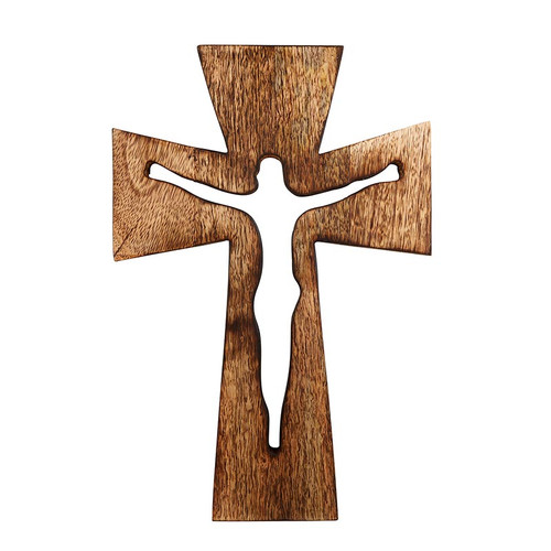 "10"" Cut-out Wood Crucifix"
