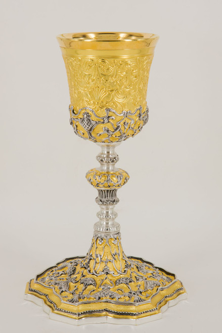 """#616 Ornate Gold & Silver Chalice 