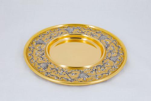 """#616 Ornate Gold & Silver Paten 