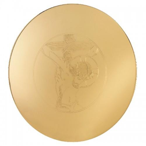 """5-1/2"""" Engraved Crucifix Scale Paten 
