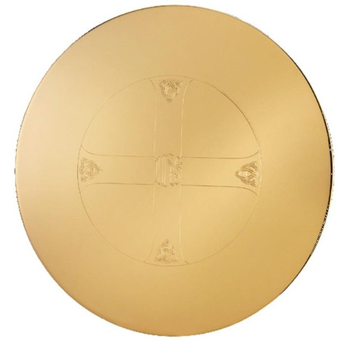 """5-1/2"""" Engraved IHS Maltese Scale Paten 