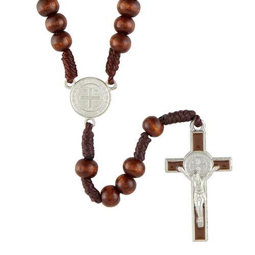 Saint Benedict Rosary | Silver Center