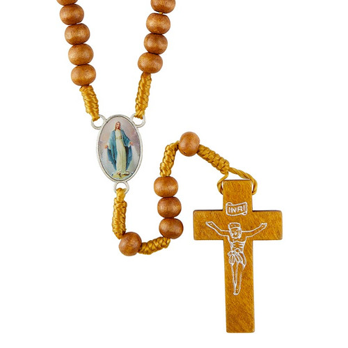 Miraculous Rosary with Wood Crucifix