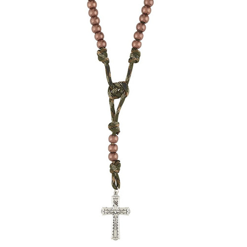 Paracord Camouflage Rosary - Jungle Green
