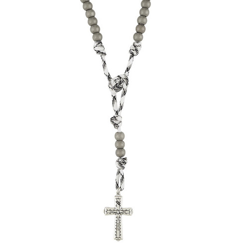 Paracord Camouflage Rosary - Naval Gray