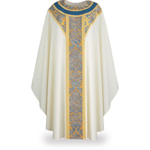 #8257 Canterbury Gothic Chasuble | Plain Collar | 100% Wool