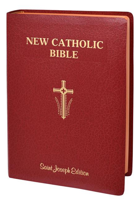 St. Joseph New Catholic Bible | Red | Giant Type | Engrave