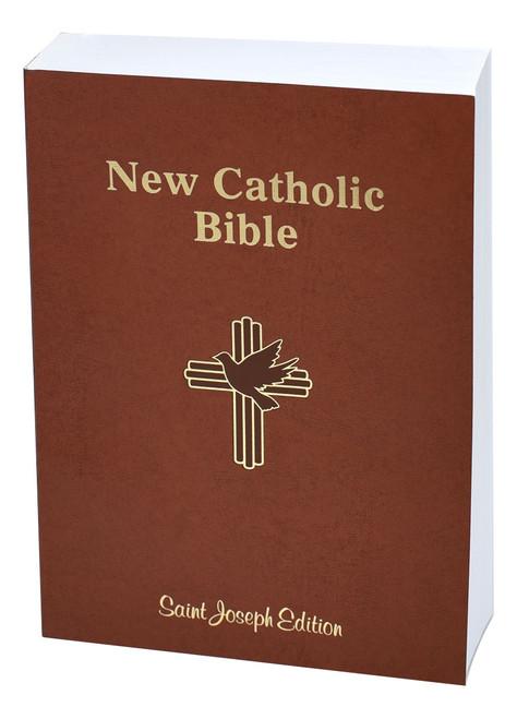 St. Joseph New Catholic Bible | Brown | Large Type | Engrave