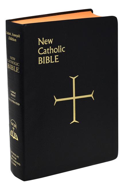 St. Joseph New Catholic Bible | Black | Large Type | Imitation Leather | Engrave