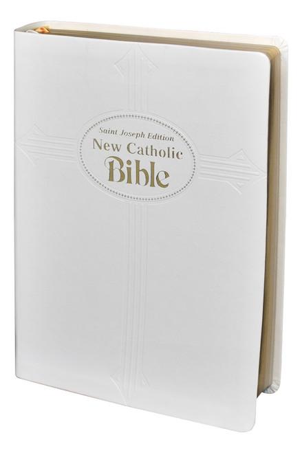 St. Joseph New Catholic Bible | White | Large Type