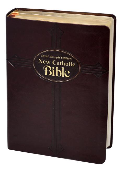 St. Joseph New Catholic Bible | Burgundy | Large Type