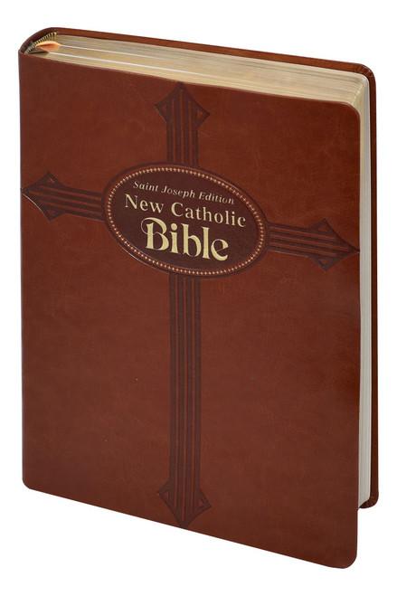 St. Joseph New Catholic Bible | Brown | Large Type