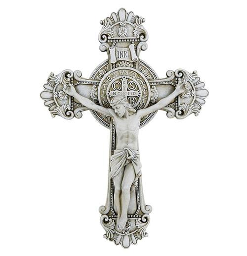 "10.5"" Saint Benedict Crucifix | Stone Finish"