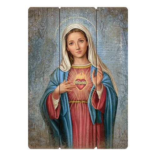 """Large 27"""" Immaculate Heart Wood Pallet Sign"""