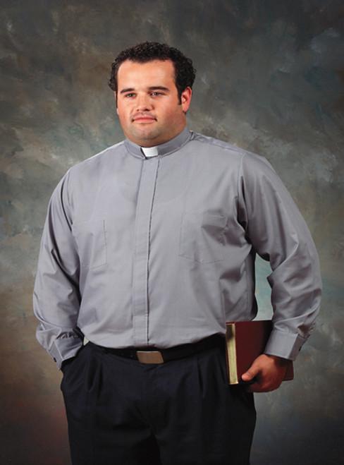 "Big & Tall | Black Tab Collar | Long Sleeve French Cuff | 20"", 36/37"