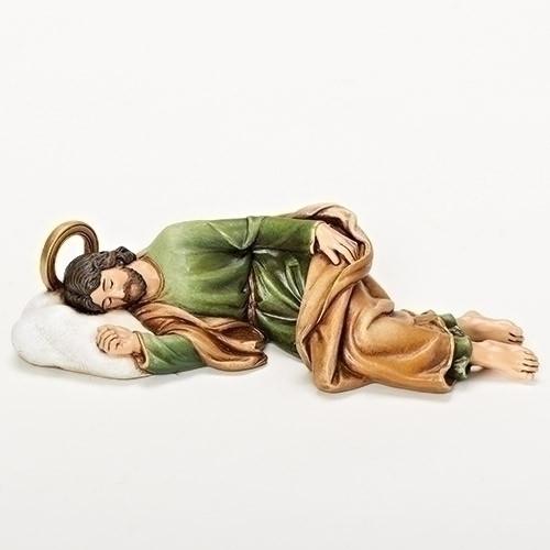 Sleeping Saint Joseph Figure | Renaissance Collection | Resin/Stone