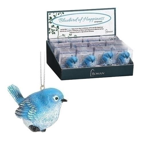 "2.5"" Bluebird of Happiness Ornament"