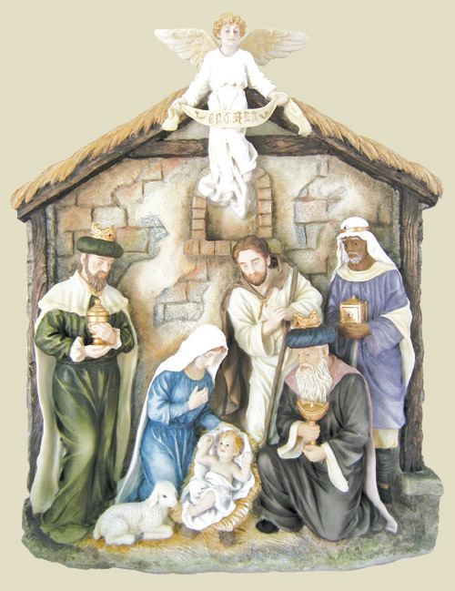 """16"""" Nativity Relief Plaque 