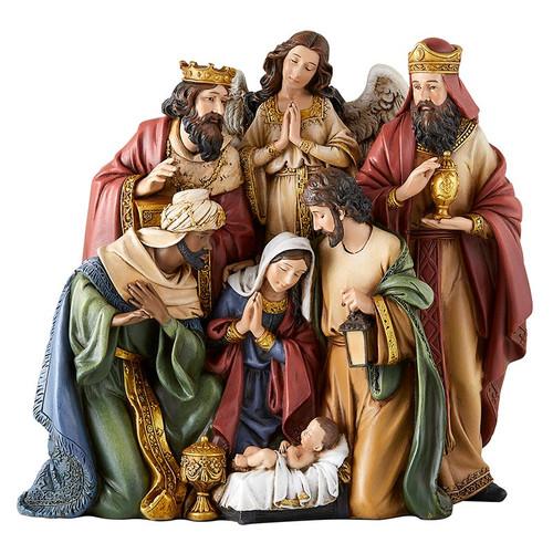 "9"" Let Us Adore Him Nativity Set | Resin"
