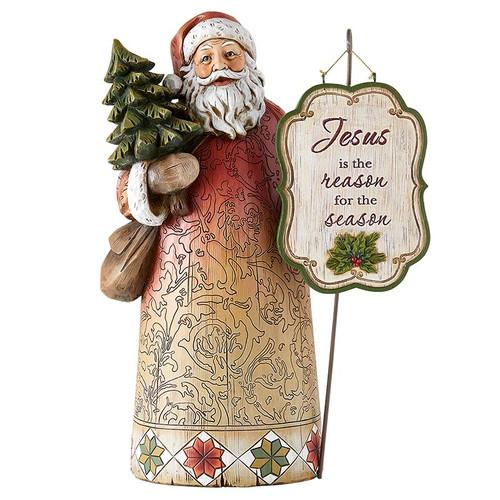 12.5'' Joyful Santa Statue | Resin