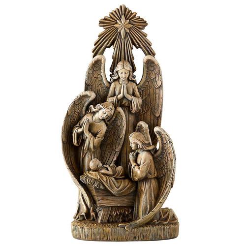 "13"" Angelic Nativity Statue | Resin"