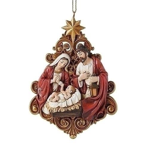 "4"" Holy Family Ornament | Resin"