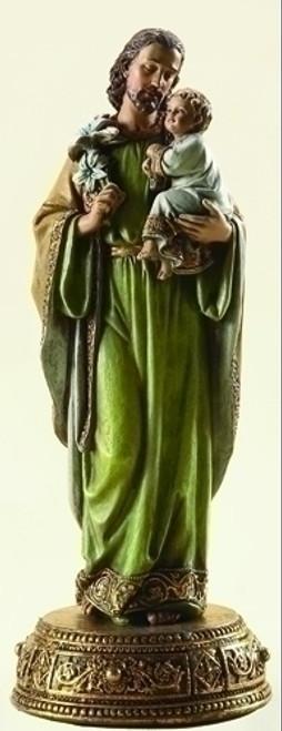 "10.25"" St. Joseph with Child Statue | Resin/Stone"