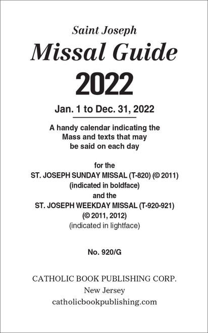 Annual Missal Guide | 2022