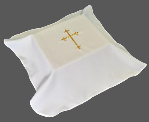 """Embroidered Cross Lined Urn Cover 