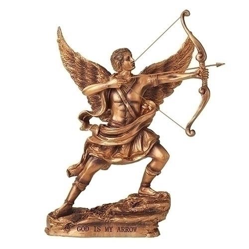 "9"" God Is My Arrow Figure| Resin/Stone"