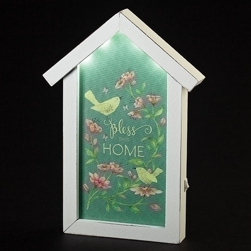 """11"""" Bless This Home LED Plaque"""