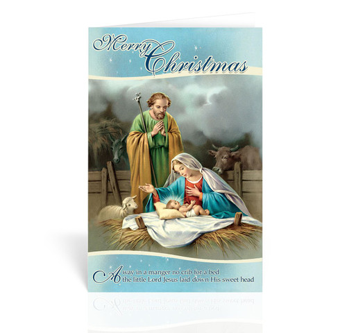 Nativity with Stable  Christmas Cards | Box of 10