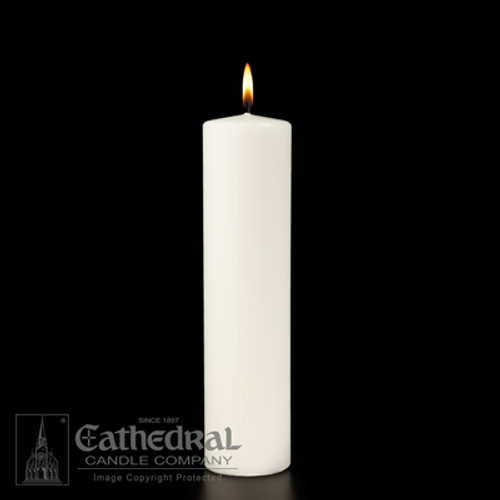 "White Ceremonial Pillar Candle | 3"" x 12"""