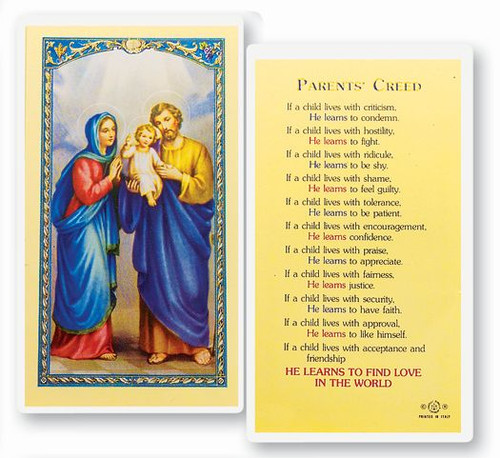 Parents Creed - Holy Family