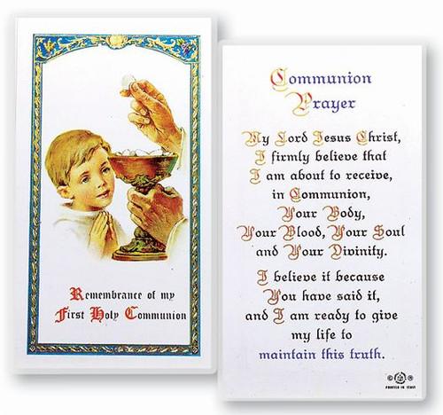Boy Communion Prayer