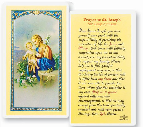 St. Joseph Employment Prayer Holy Card