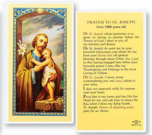 St. Joseph Prayer Holy Card