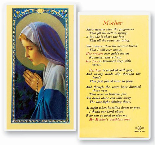Mother - Madonna Praying Rosary