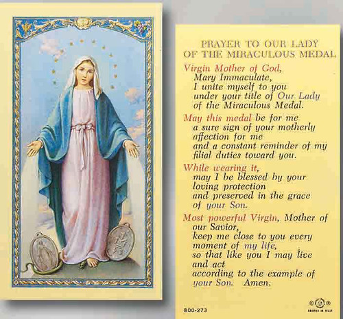 Our Lady of the Miraculous Medal Prayer