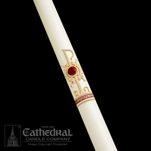 Holy Trinity SCULPTWAX Paschal Candle | 51% Beeswax | All Sizes