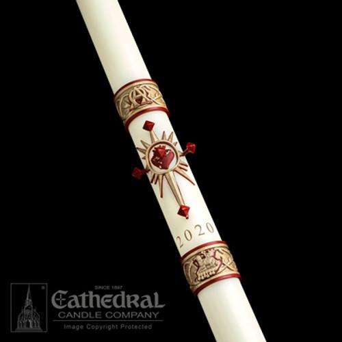 Sacred Heart SCULPTWAX Paschal Candle