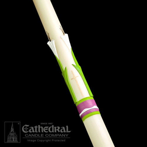 Easter Glory SCULPTWAX Paschal Candle | 51% Beeswax | All Sizes