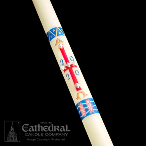 Benedictine Paschal Candle | 51% Beeswax | All Sizes
