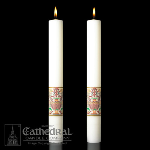 Investiture - Coronation Of Christ Complementing Altar Candles
